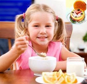 Время для приема пищи ребенком